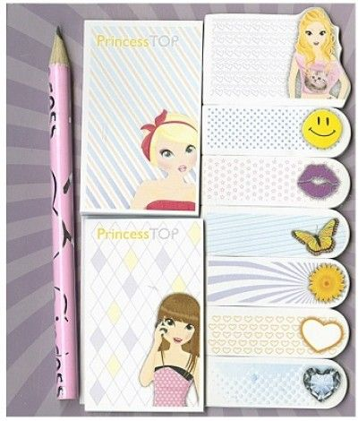 Princess TOP - Sticky notes and pencil