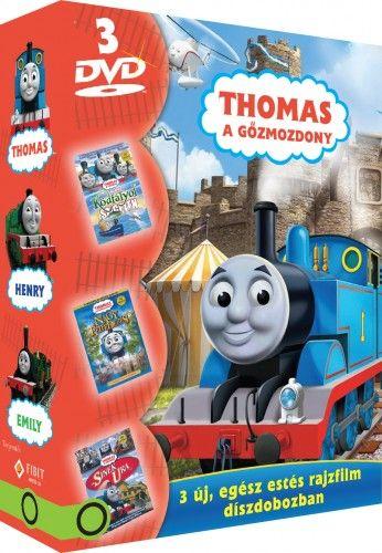 GregTiernan - Thomas, a gőzmozdony díszdoboz (3 DVD) A sínek ura, Kaland a Ködfátyol szigeten, A nagy felfedezés