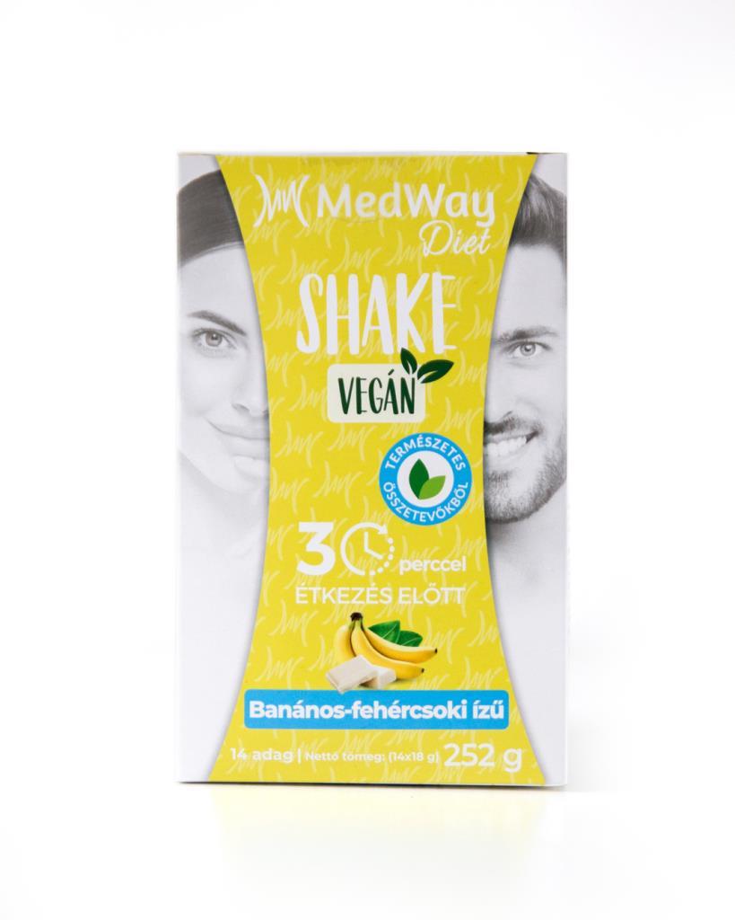 MedWay Diet Vegán Shake - Banános-fehércsoki ízű