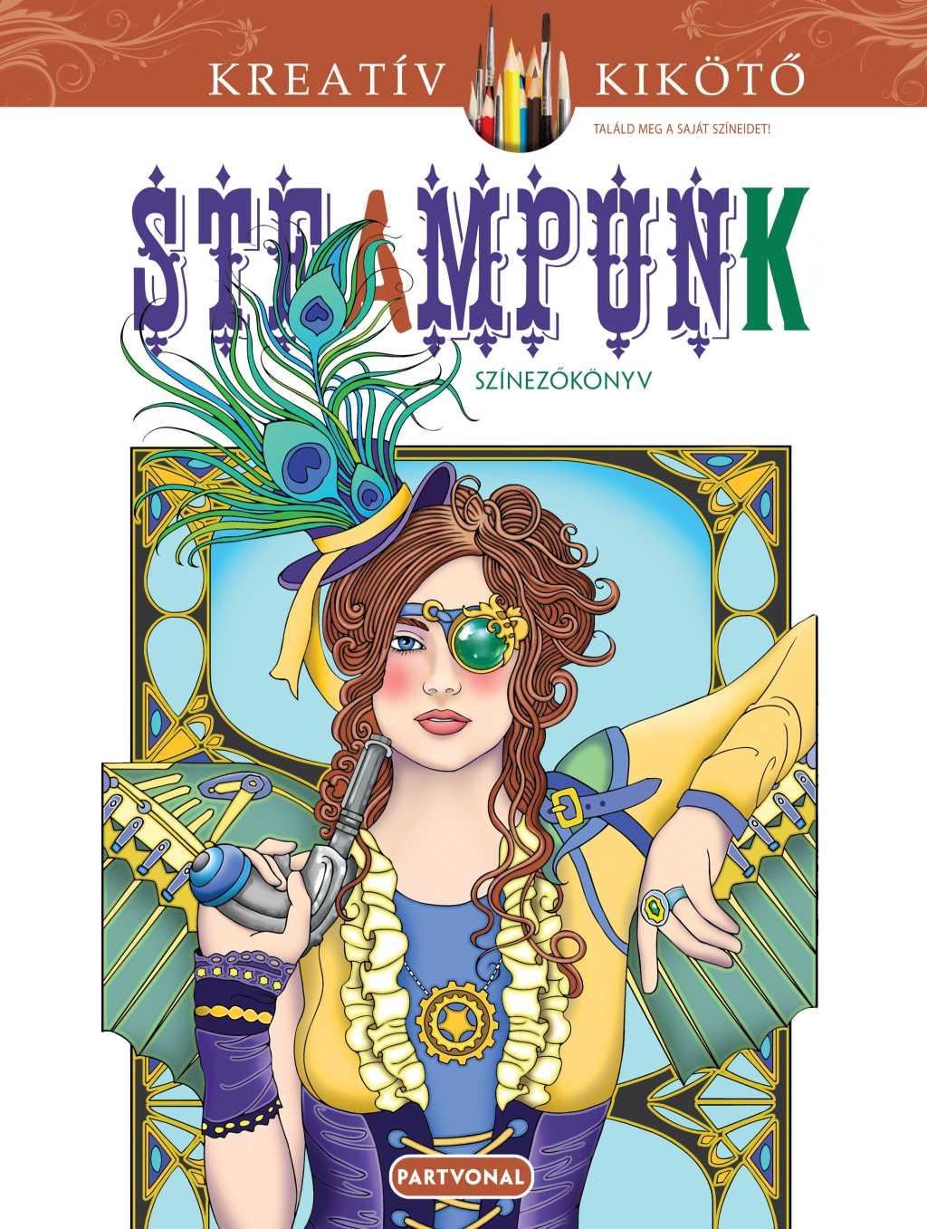 Jane Steampunk - Színezőkönyv