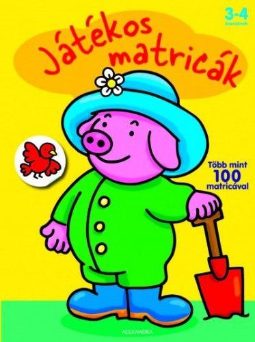 Játékos matricák - Malac