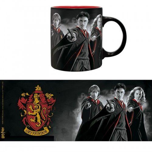 Harry Potter bögre Ron, Harry, Hermione Griffendél Ház mintával 320 ml