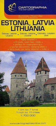 Észtország Lettország, Litvánia autóstérkép 1:700 000 -  pdf epub