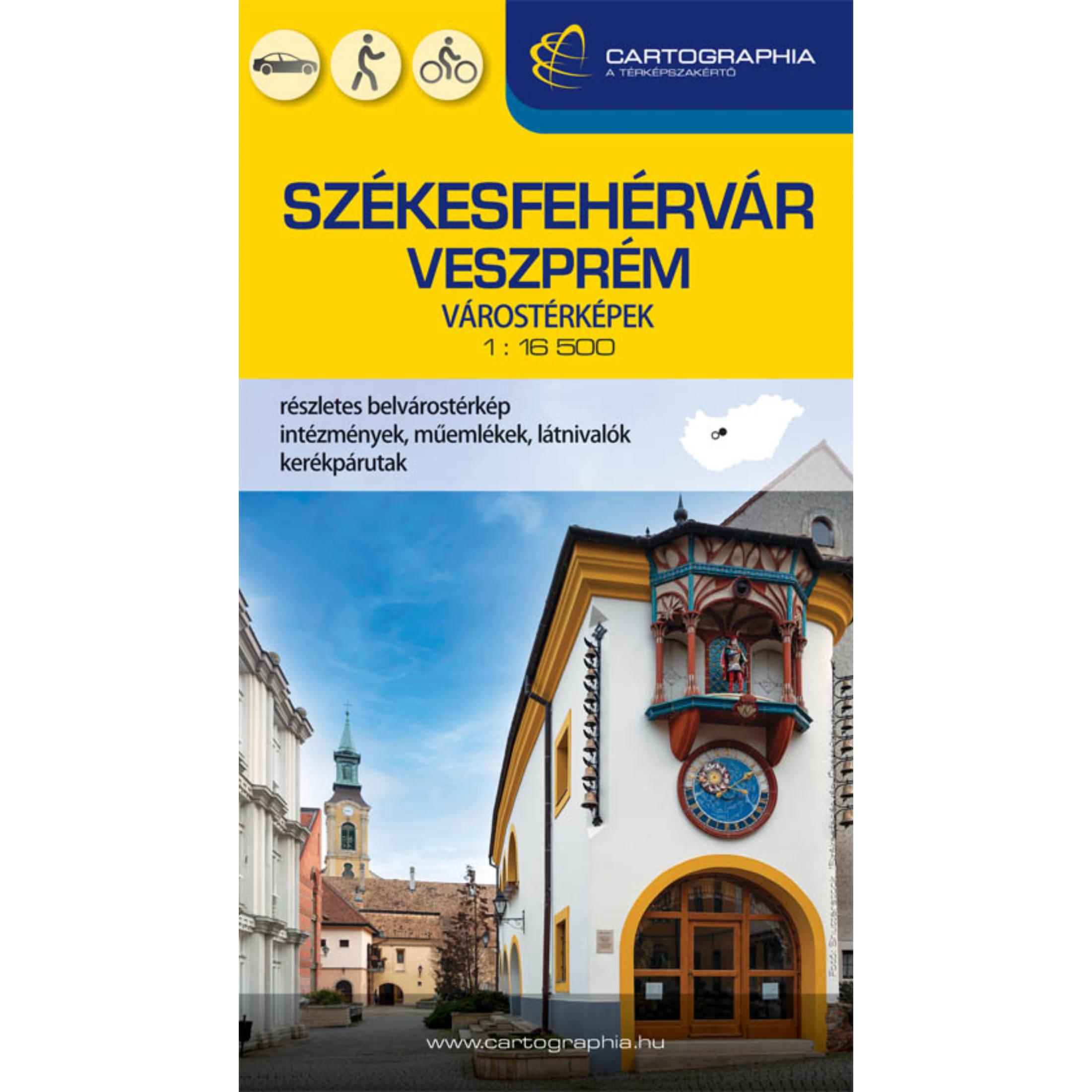Székesfehérvár, Veszprém várostérkép 2021
