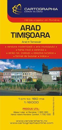 Arad, Temesvár várostérkép - 1:18000 - 1:15 000