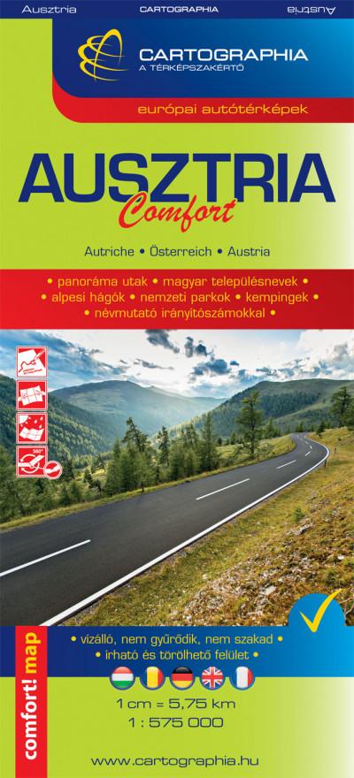 Ausztria Comfort térkép 1:575000