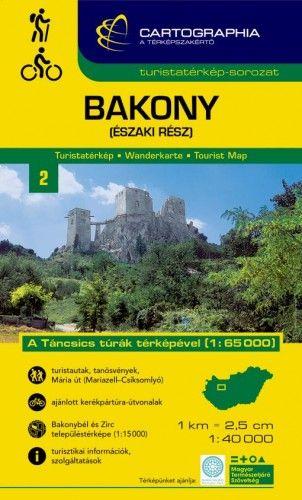 Bakony - északi rész turistatérkép 1:40.000