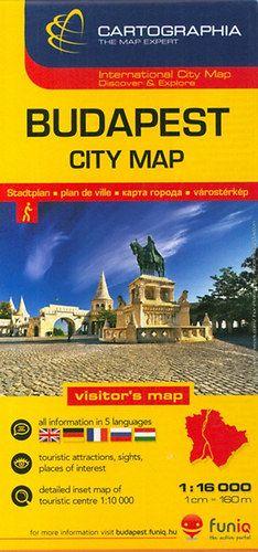 Budapest City térkép 1:16 000