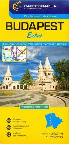 Budapest Extra várostérkép 1:30 000