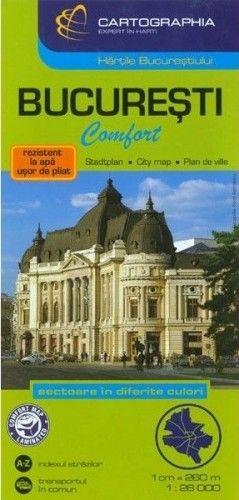 Bukarest Laminált térkép 1:26 000