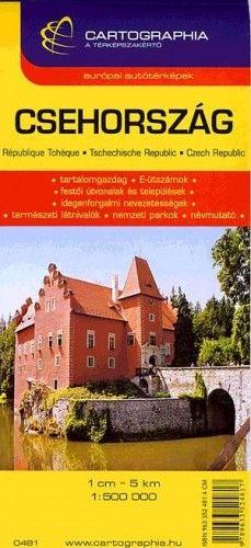 Csehország autótérkép 1:500000