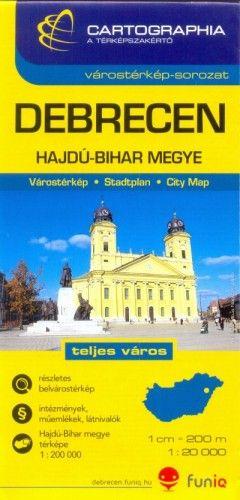 Debrecen várostérkép - Hajdú-Bihar megye térkép 1:20 000 -  pdf epub