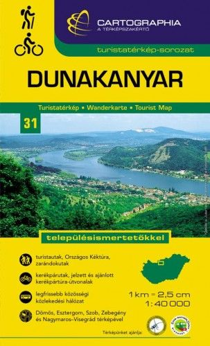 Dunakanyar turistatérkép1:40 000 -  pdf epub