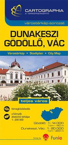Dunakeszi, Gödöllő, Vác várostérkép