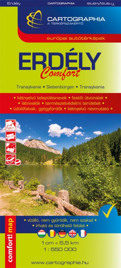 Erdély Comfort térkép 1:550 000