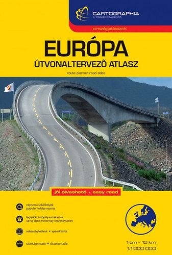 Európa útvonaltervező atlasz1:1 000 000 -  pdf epub