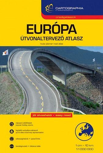 Európa útvonaltervező atlasz1:1 000 000