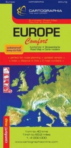 Európa Comfort térkép1:4 000 000 -  pdf epub