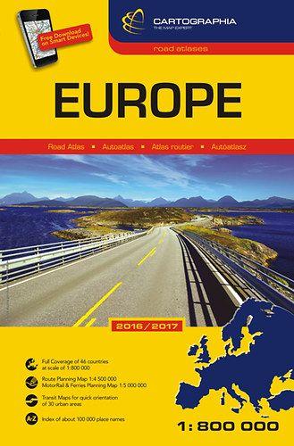 Európa Autósatlasz 1:800000 -  pdf epub