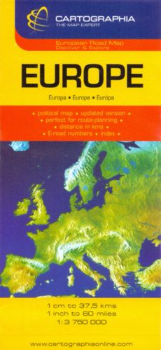 Európa autótérkép 1:3750000