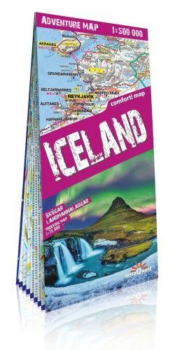Izland trekking térkép 2019 Expressmap