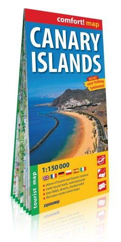 Kanári-szigetek Comfort térkép - 1:150 000