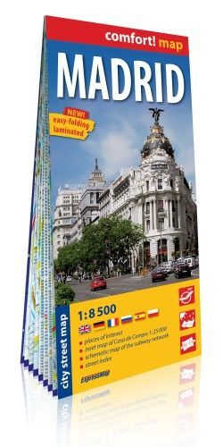 MADRID CITY STREET MAP 1:8 500