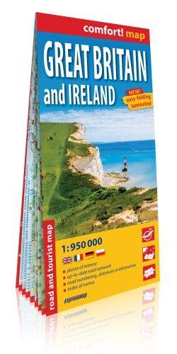 Nagy-Britannia és Írország Comfort térkép