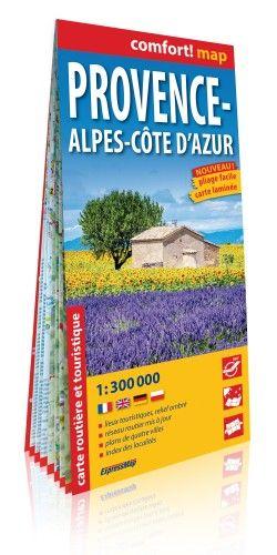 Provance, Alpok-Cote D'Azur Comfort térkép 1:300 000