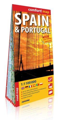 Spanyolország, Portugália Comfort térkép