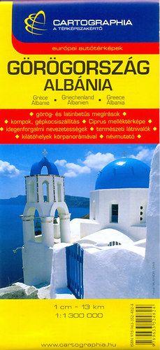Görögország, Albánia autóstérkép 1:1 300 000 -  pdf epub