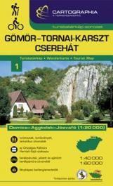 Gömör-Tornai-Karszt, Cserehát turistatérkép - Aggtelek 1:40 000, 1:60 000