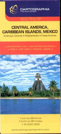 Közép-Amerika útitérkép