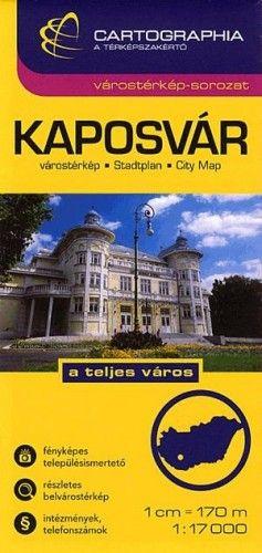 Kaposvár Várostérkép - Somogy megye térkép - 1:17000 -  pdf epub