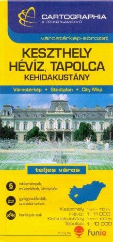 Keszthely - Hévíz várostérkép - 1:11 000