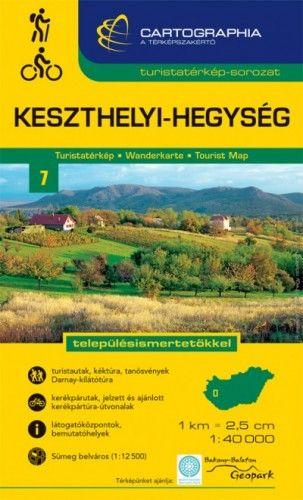 Keszthelyi-hegység turistatérkép 1:40000