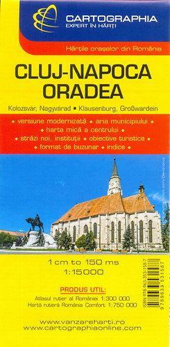 Kolozsvár - Nagyvárad várostérkép 1:15 000