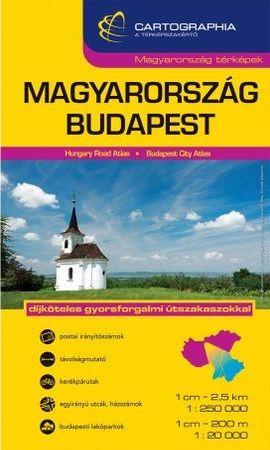 Magyarország + Budapest kombi autóatlasz - 1:250 000, 1:20 000 -  pdf epub