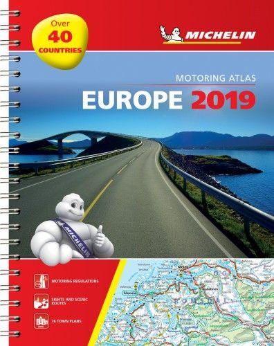 Európa atlasz 2019 - spirál 1136 Michelin