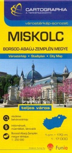 Miskolc Várostérkép1:17 000 -  pdf epub