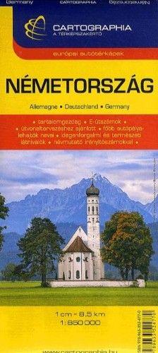 Németország autóstérkép 1:850 000 -  pdf epub