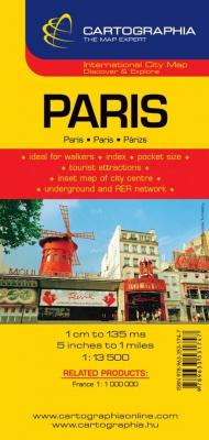 Párizs várostérkép 1:13.500