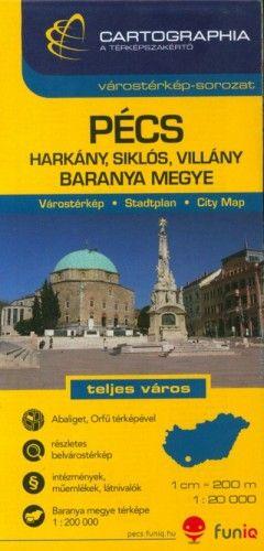 Pécs, Harkány, Siklós, Villány Várostérkép 1:20 000
