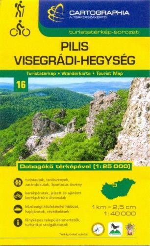 Pilis és Visegrádi-hegység turistatérkép 1:40000 - Dobogókő térképével 1:25 000
