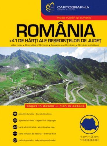 Románia Autósatlasz 1:300.000