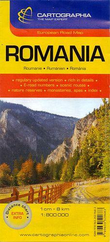 Románia autóstérkép1:800 000 -  pdf epub