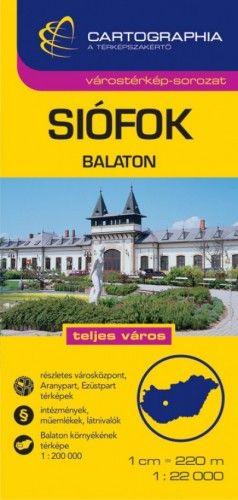 Siófok várostérkép - Balaton térkép 1:22 000