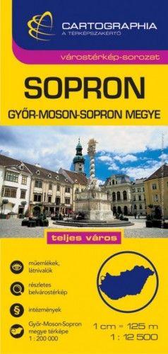 Sopron Várostérkép  1:12 500