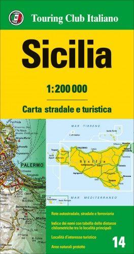 Szicília régiótérkép - 1:200 000