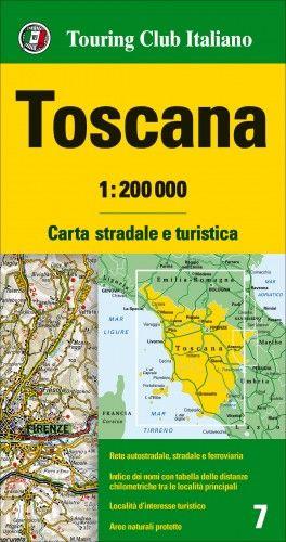 Toszkána régiótérkép 1:200 000